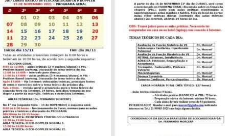 CURSO TEÓRICO PRÁTICO PRESENCIAL DE ECOCARDIOGRAMA DO DR. MORCERF